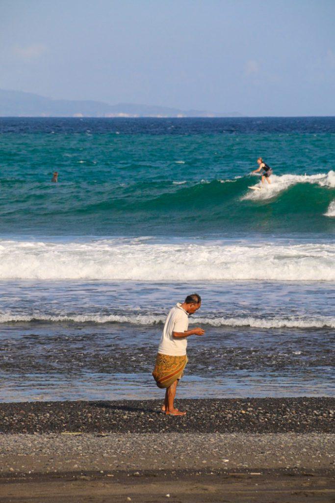 surfing keramas local beach bali