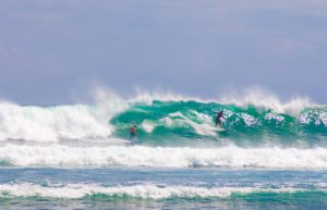 surfing waves balangan beach bali