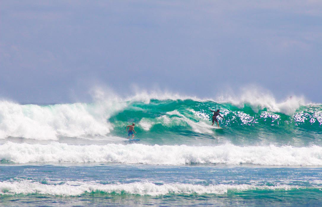 surfing waves balangan beach bali
