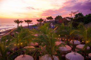 the lawn canggu bali sunset