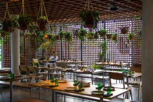 The Slow restaurant interior Canggu