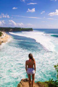 view waves surfing balangan beach bali