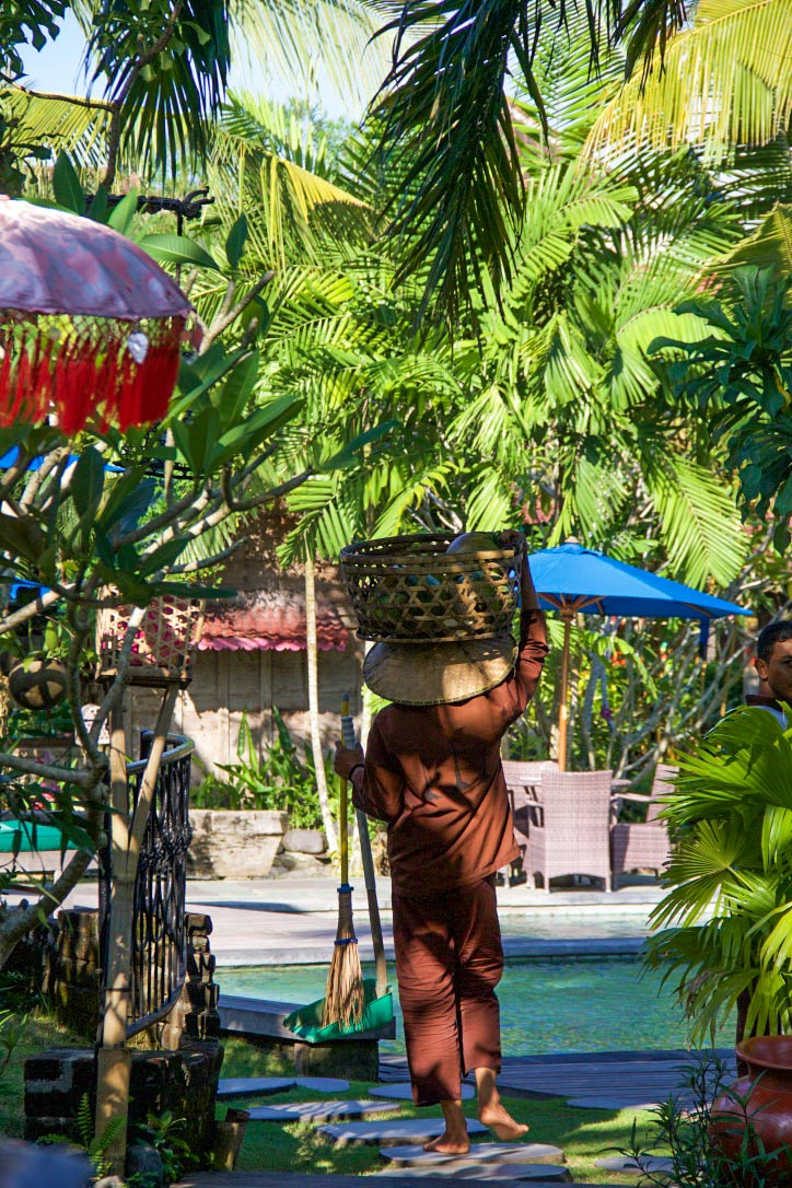 Gardener at Desa Seni in Bali