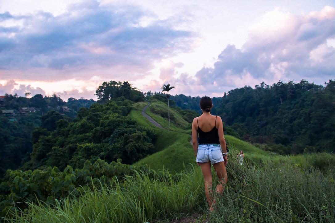 Campuhan Ridge Walk during sunset in Ubud Bali