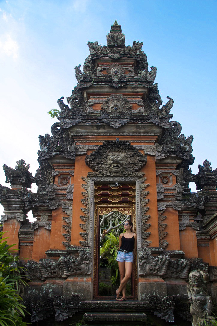 Pura Taman Saraswati temple in Ubud Bali