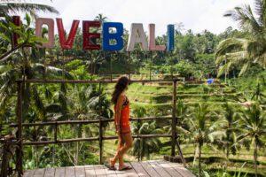 Tegallalang rice field terraces in Ubud Bali