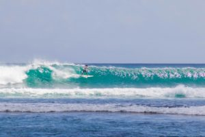 Surfing Balangan Beach in Bali
