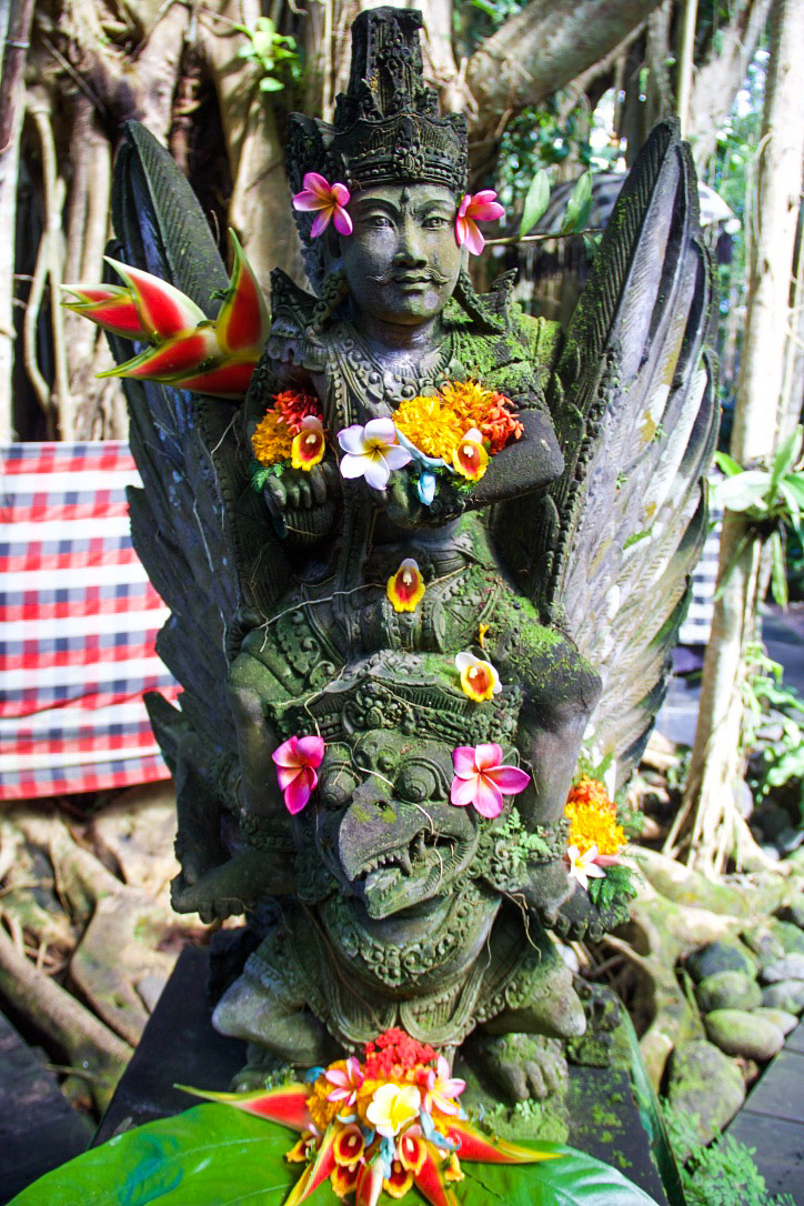 svarga loka wellness resort hindu statue ubud bali