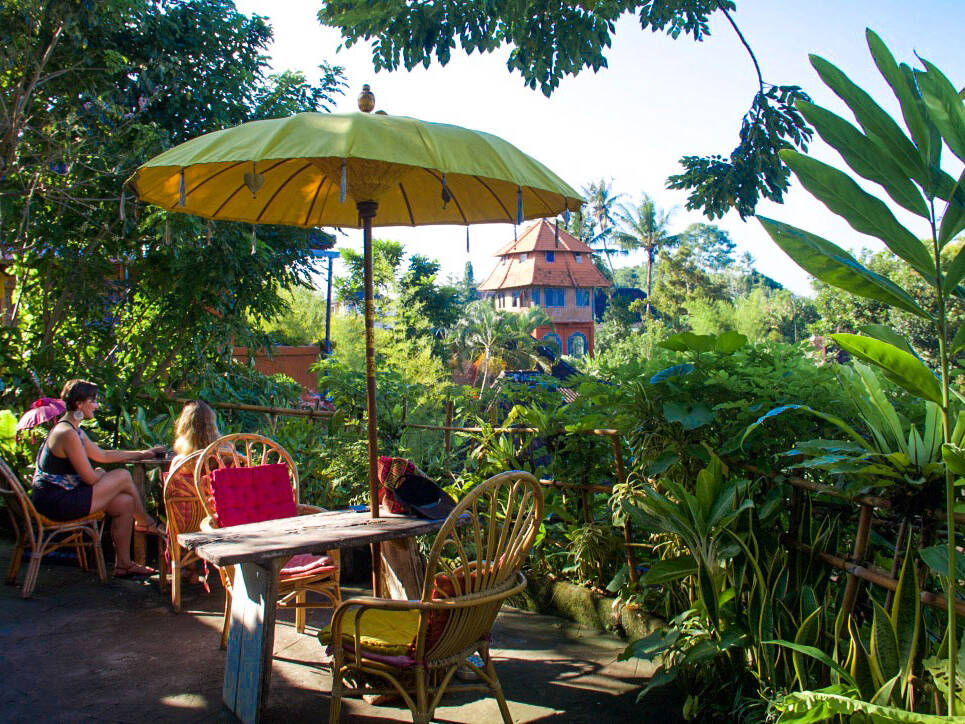 yellow flower cafe ubud bali