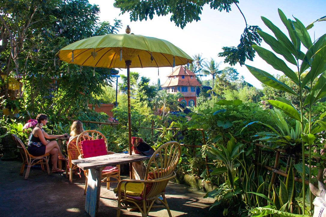 yellow flower cafe ubud bali