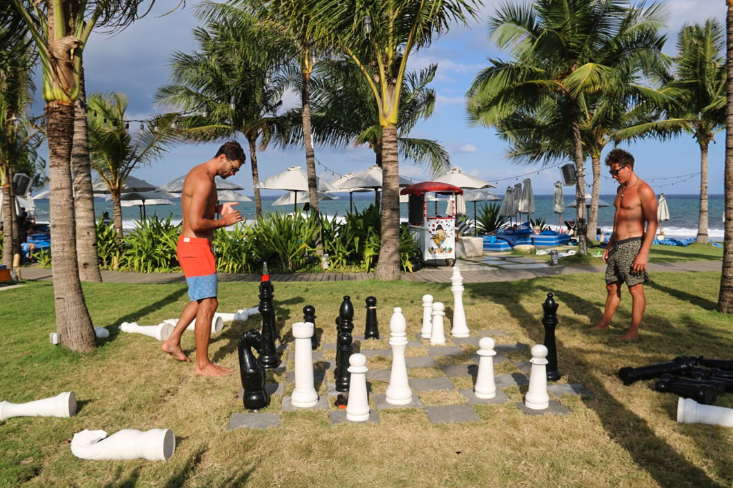 Chess game at Komune resort in Keramas Bali