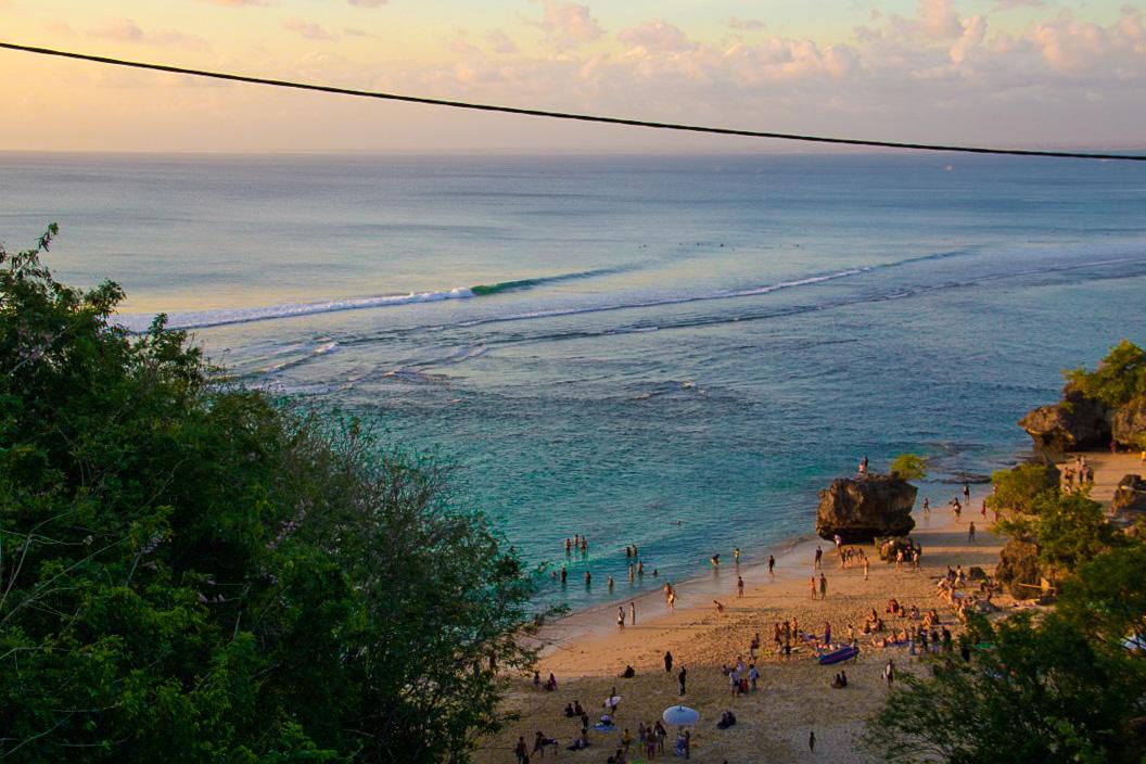 padang padang surfing bali beach
