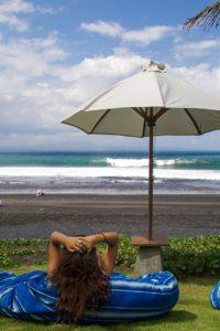 Surf check at Komune resort in Keramas Bali