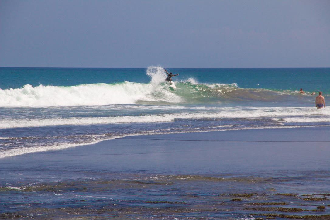 Surfing Echo Beach in Bali
