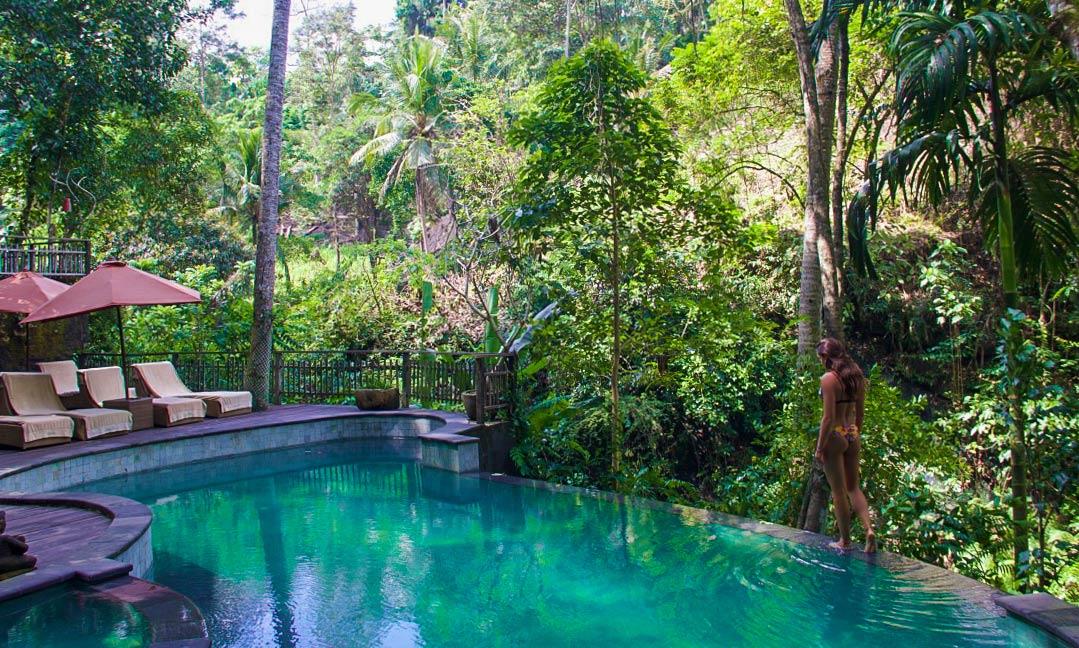 infinity pool svarga loka wellness resort ubud bali