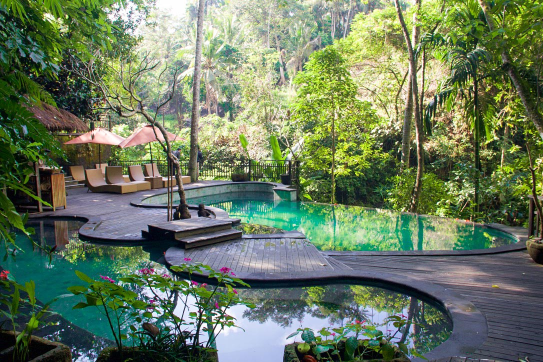 svarga loka resort swimming pool ubud bali