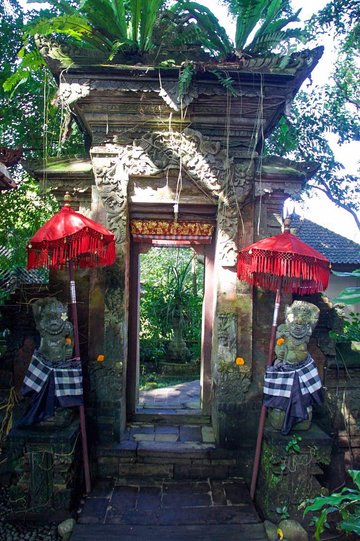 svarga loka wellness resort entrance ubud