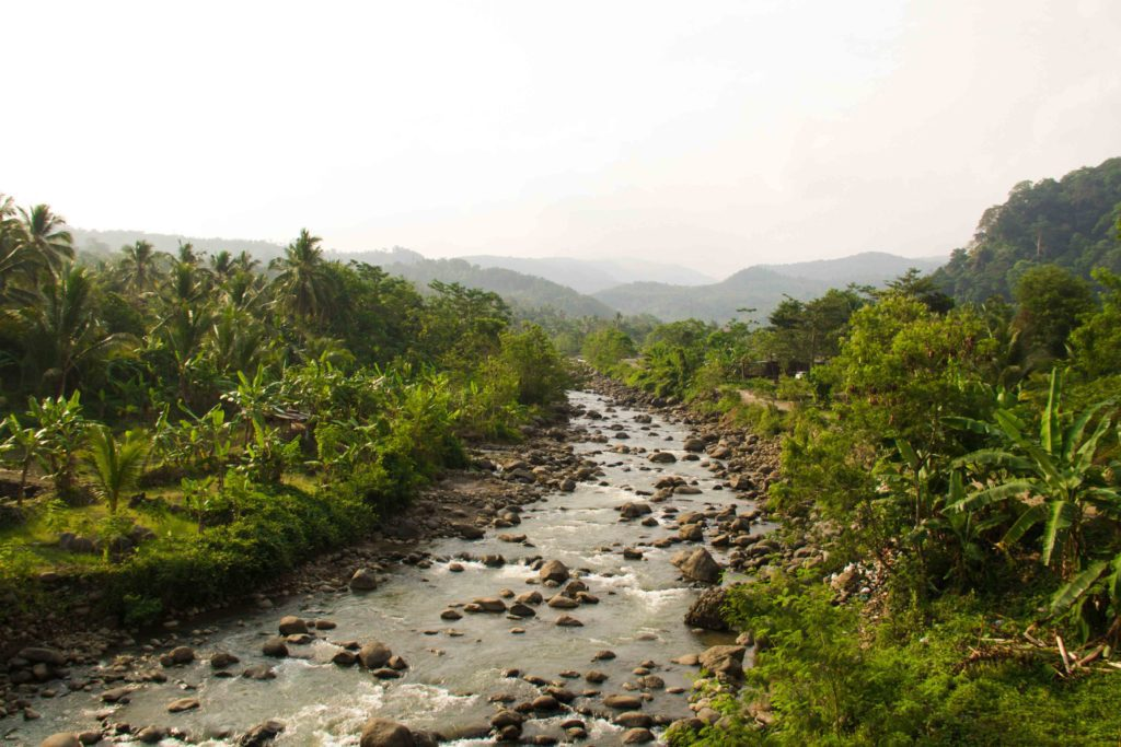 cimaja mountains river java indonesia