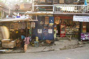 Streets in cimaja java indonesia