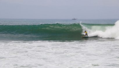 surfing cimaja waves java indonesia