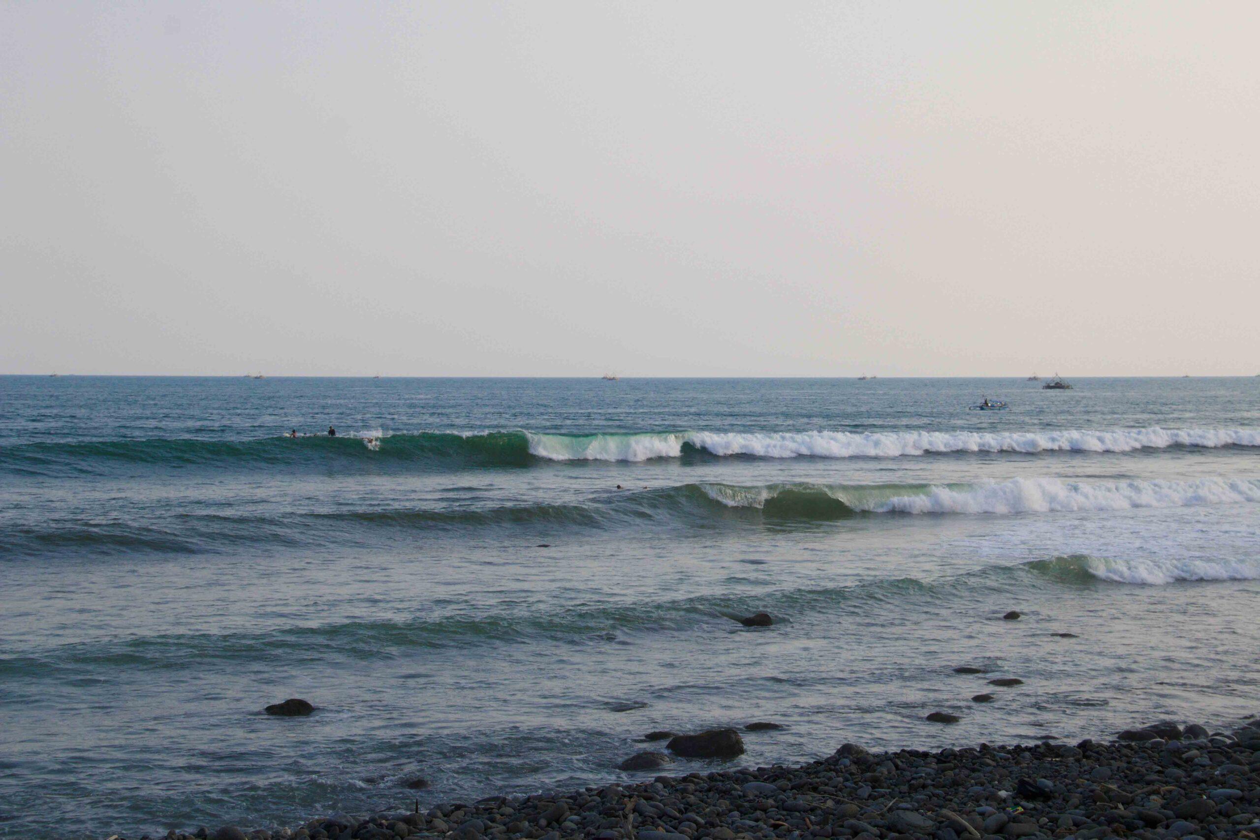 waves cimaja surfing java