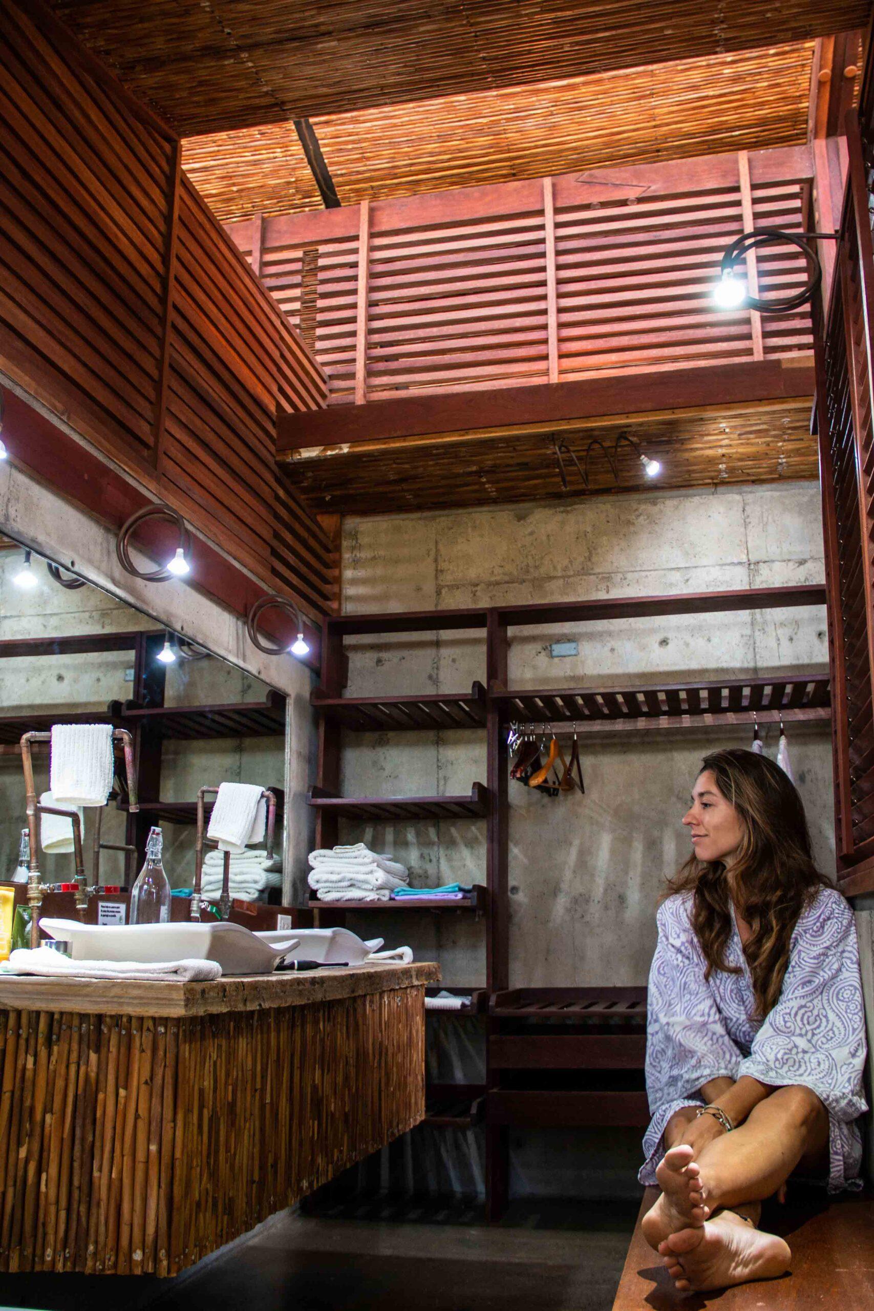 Bathroom at Balcones de Majagual in Nicaragua