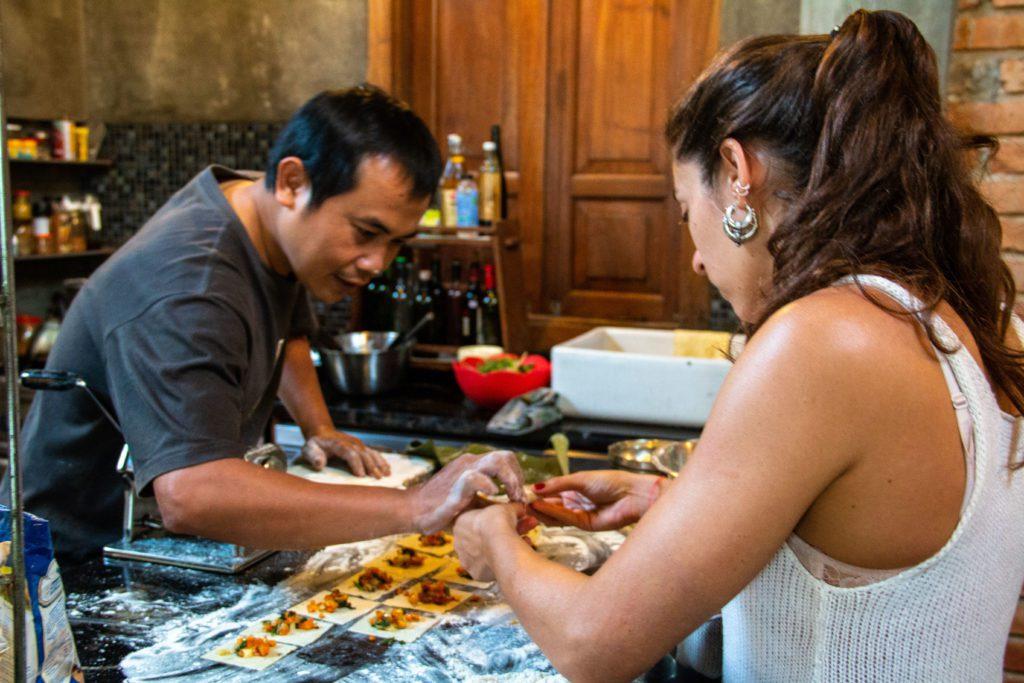 cooking ravioli portibi farms java