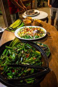 Indonesian dinner buffet at Portibi Farms