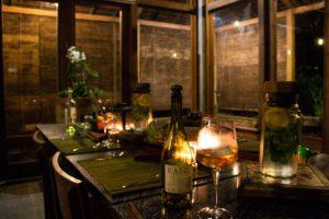 dinner restaurant lodges Ekologica at Portibi Farms