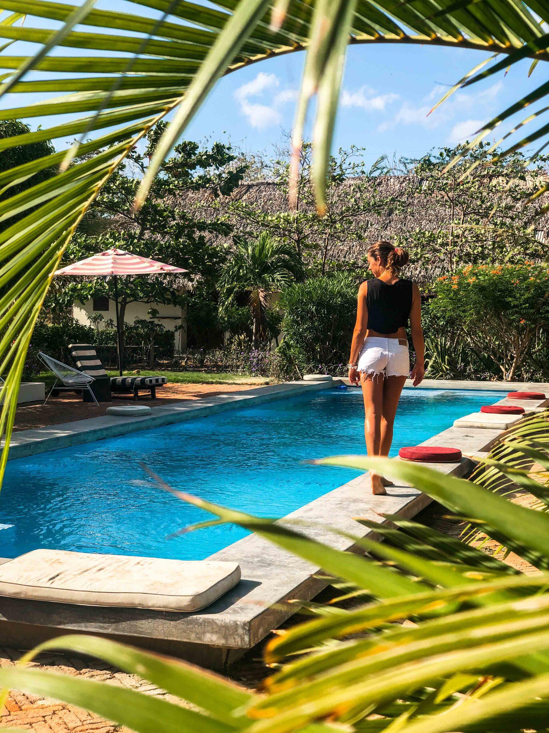Swimming pool at Malibu Popoyo Nicaragua