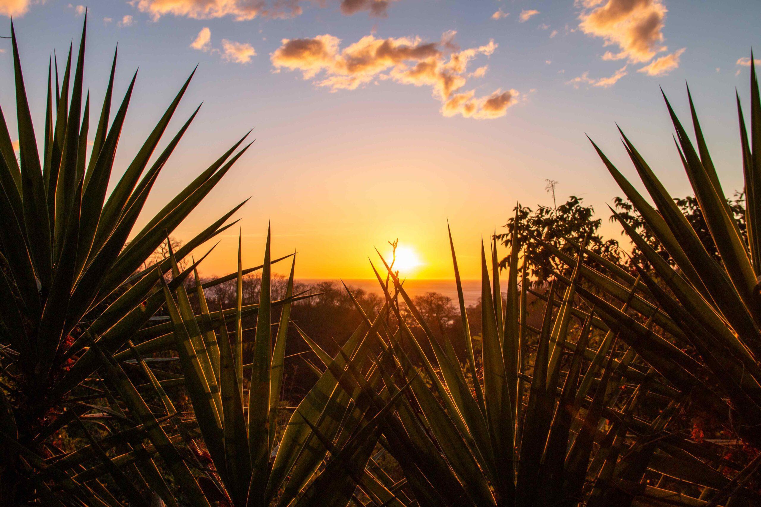 Sunset view at Balcones de Majagual in Nicaragua