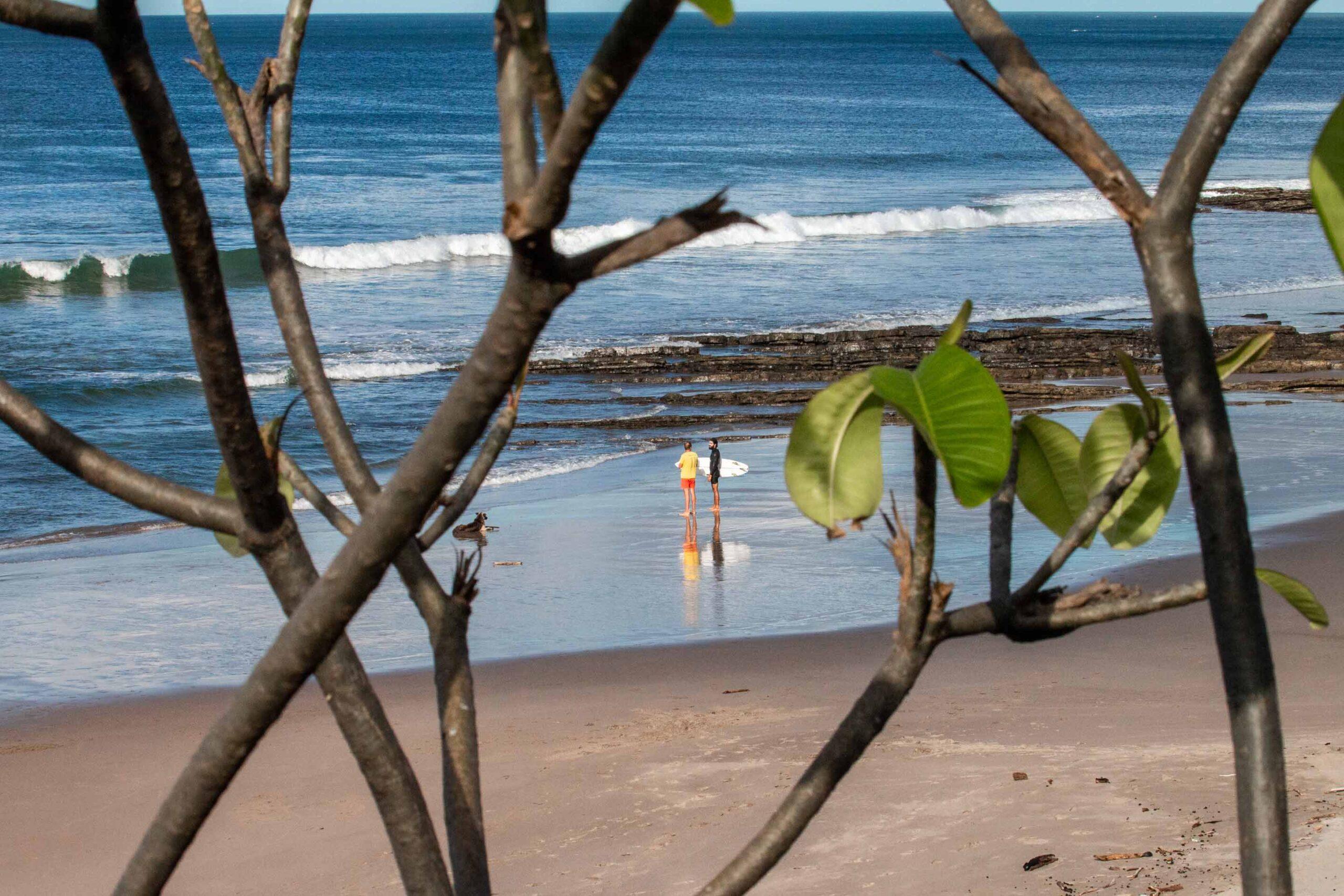 Surfers at Popoyo beach Nicaragua