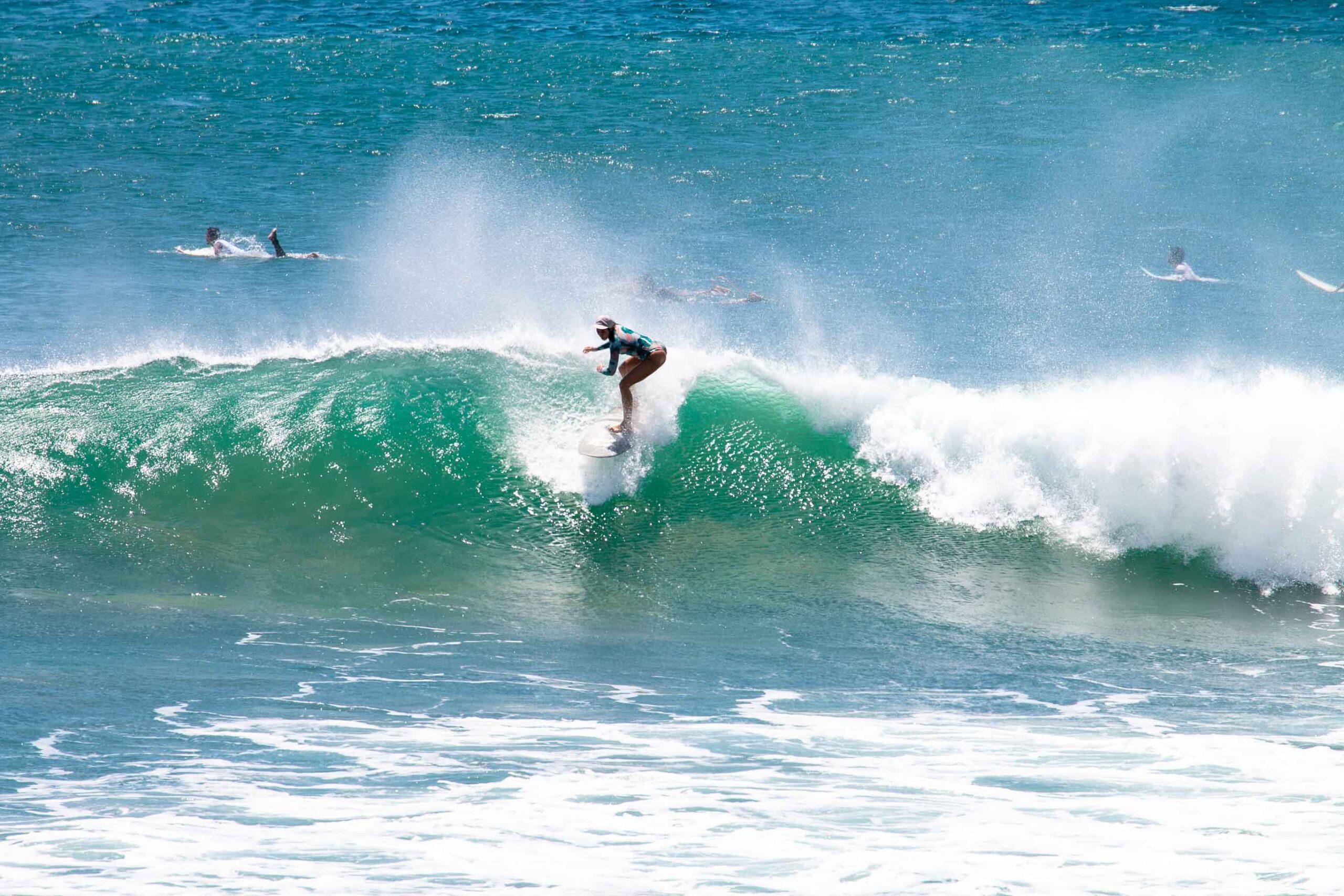 Surfing Popoyo main break in Nicaragua
