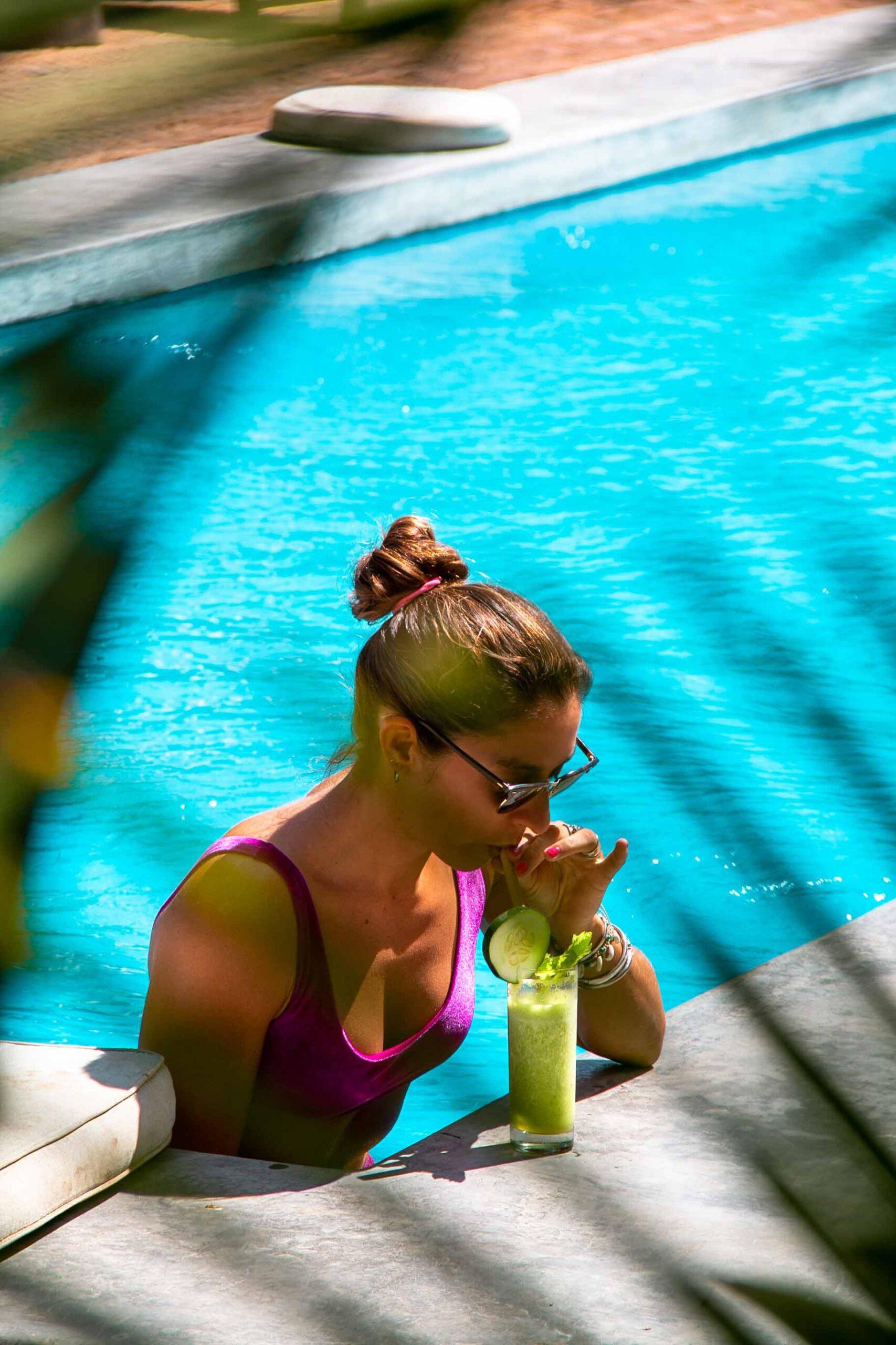 Drinks by the pool at Malibu Popoyo Nicaragua
