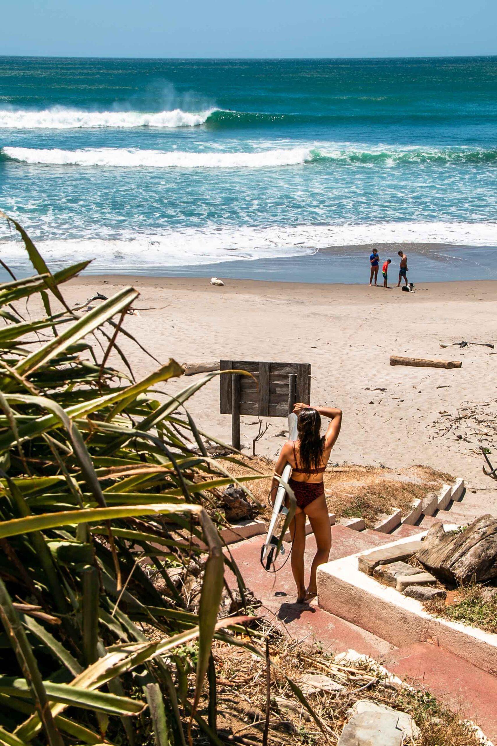Surf check at playa Popoyo Nicaragua