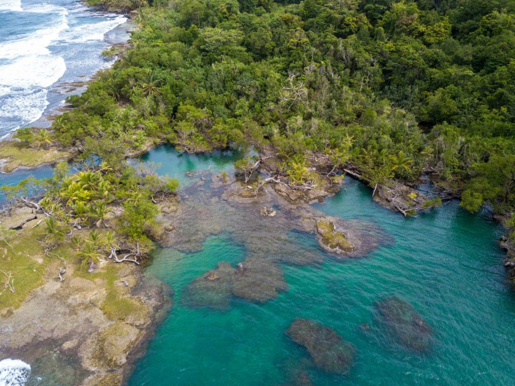 Blue lagoon Bocas del Toro Panama