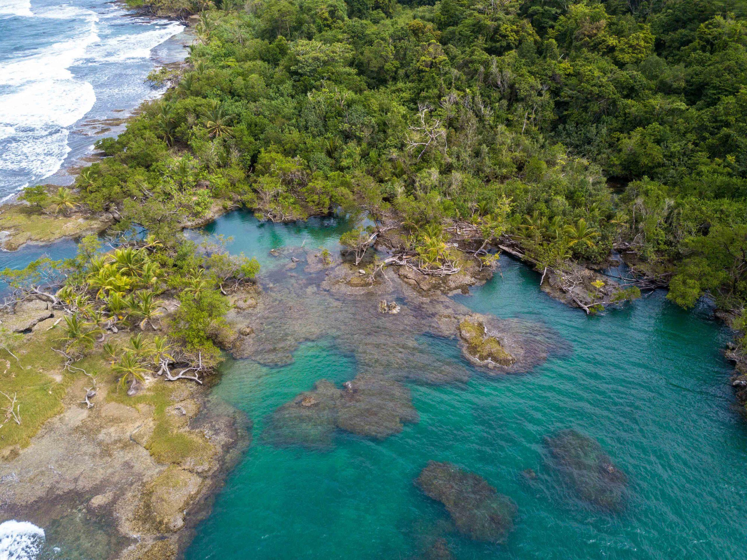 Drone photo of Playa Bluff Bocas del Toro