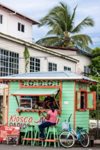 Bocas town on Isla Colon Bocas del Toro