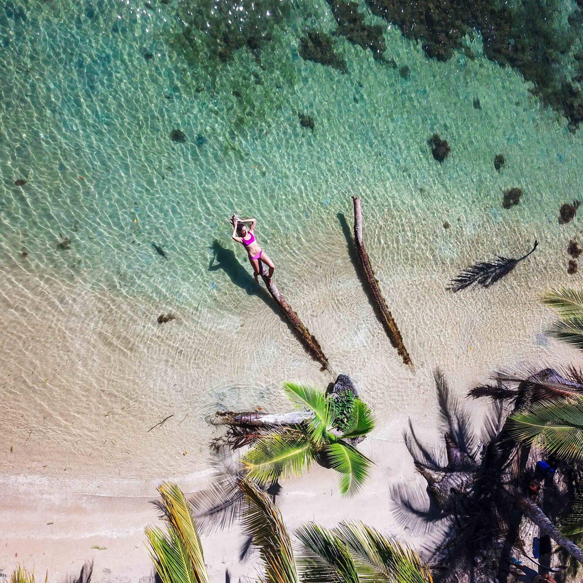 Drone photo of Bocas del Drago Panama