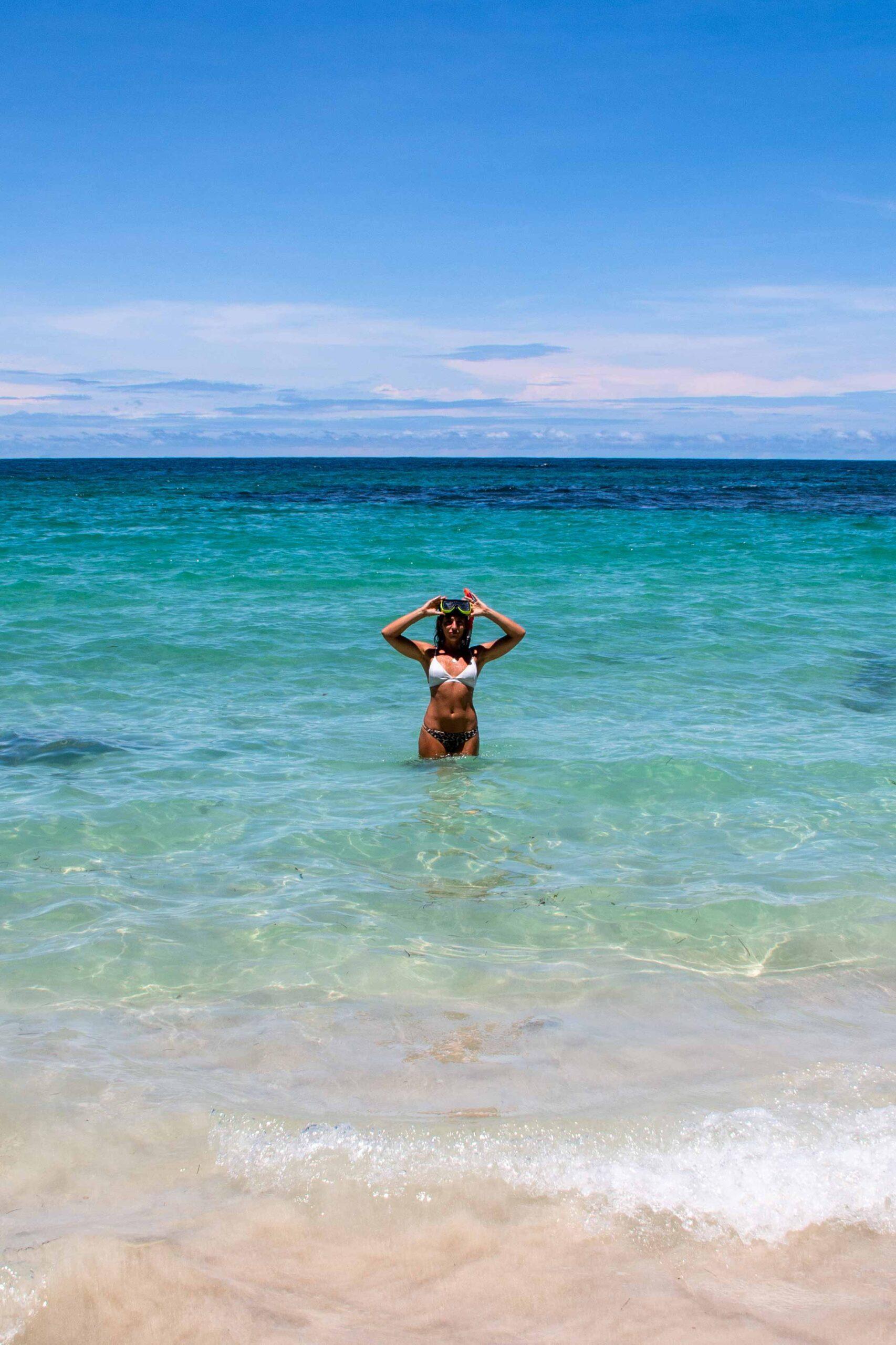 Snorkling at Cayo Zapatillo on Bocas del Toro Panama