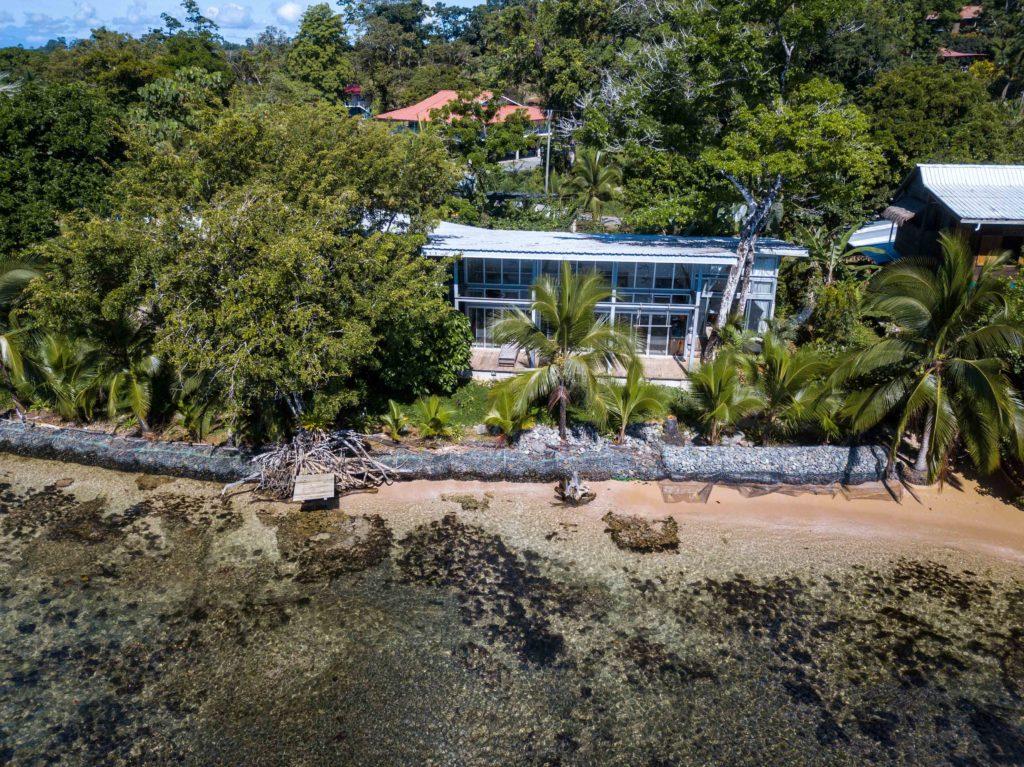 Casa Comunal drone shot Bocas del Toro Panama