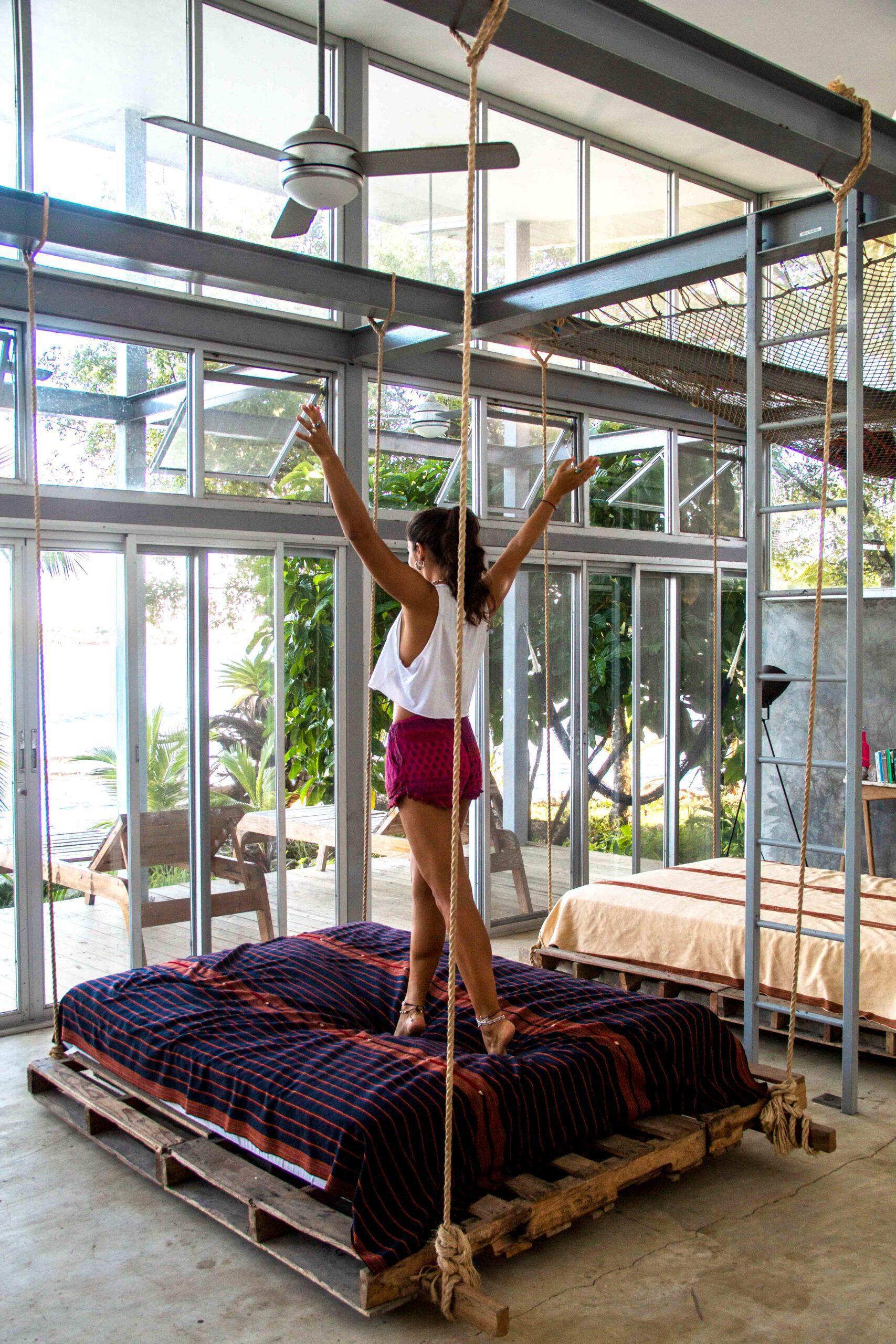 Hanging hammock at Casa Comunal Bocas del Toro