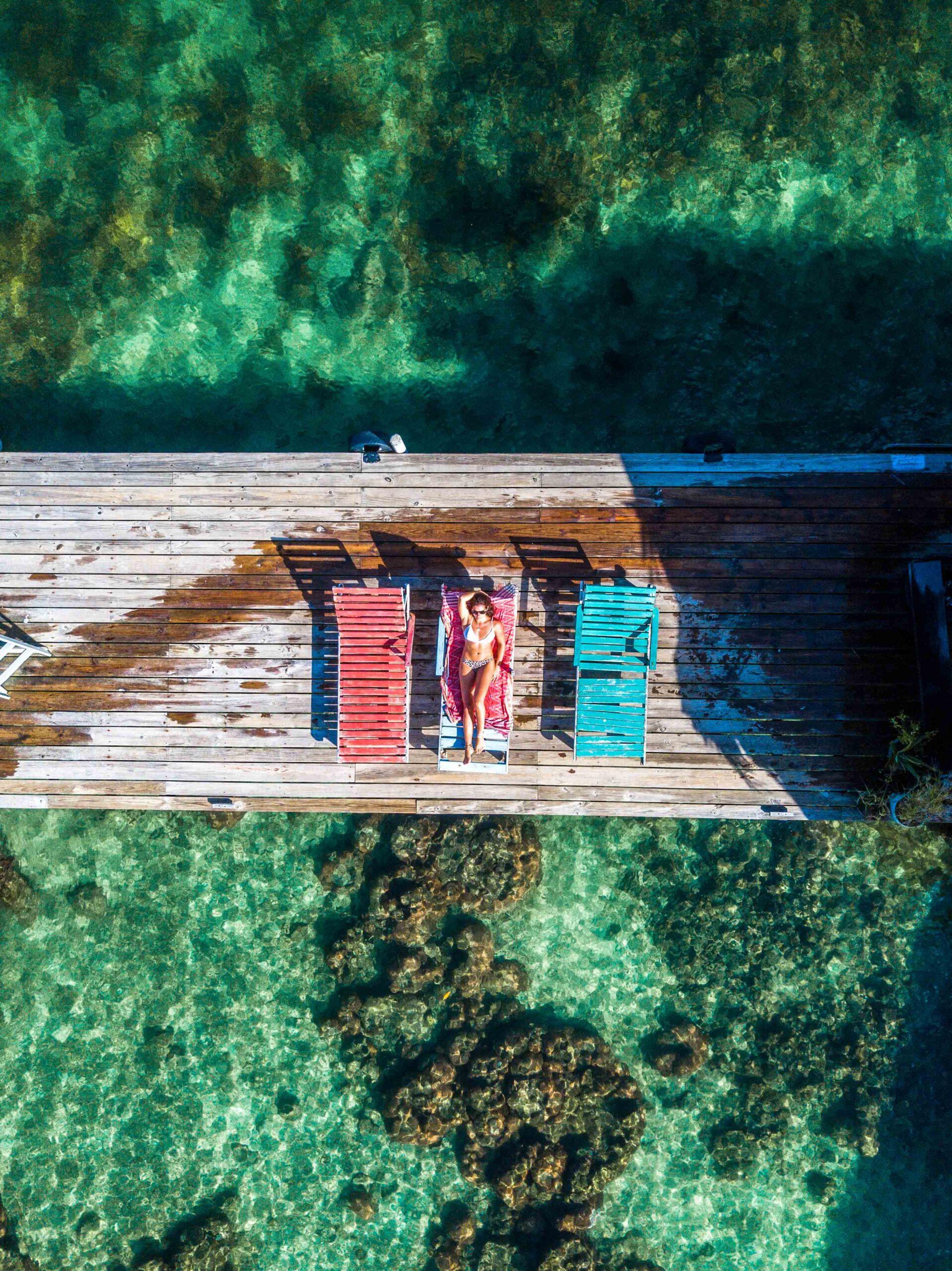 Drone photo at Cayo Coral on Bocas del Toro Panama