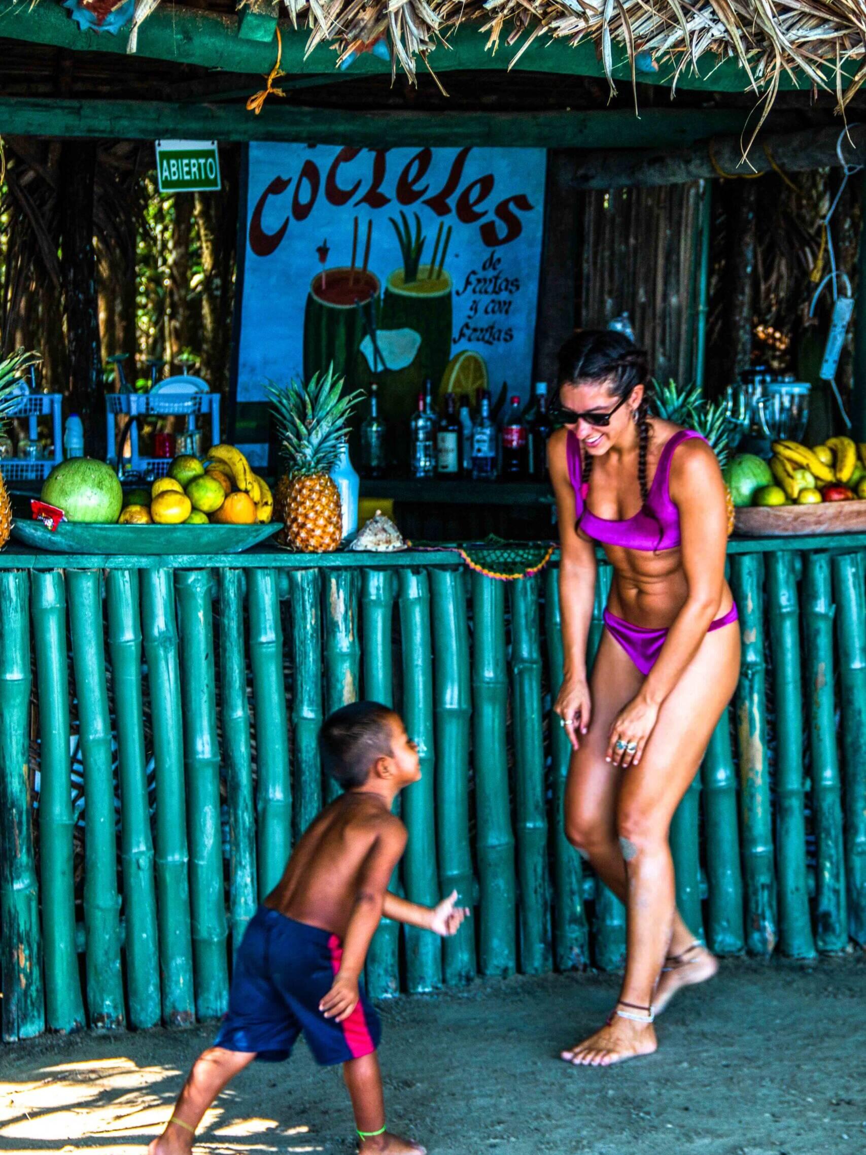 Cocktail bar at Playa Estrella Bocas del Toro