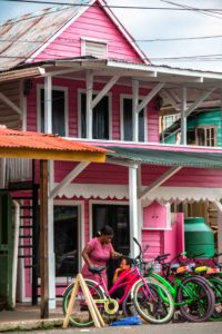 Colourful houses in Bocas Town Panama