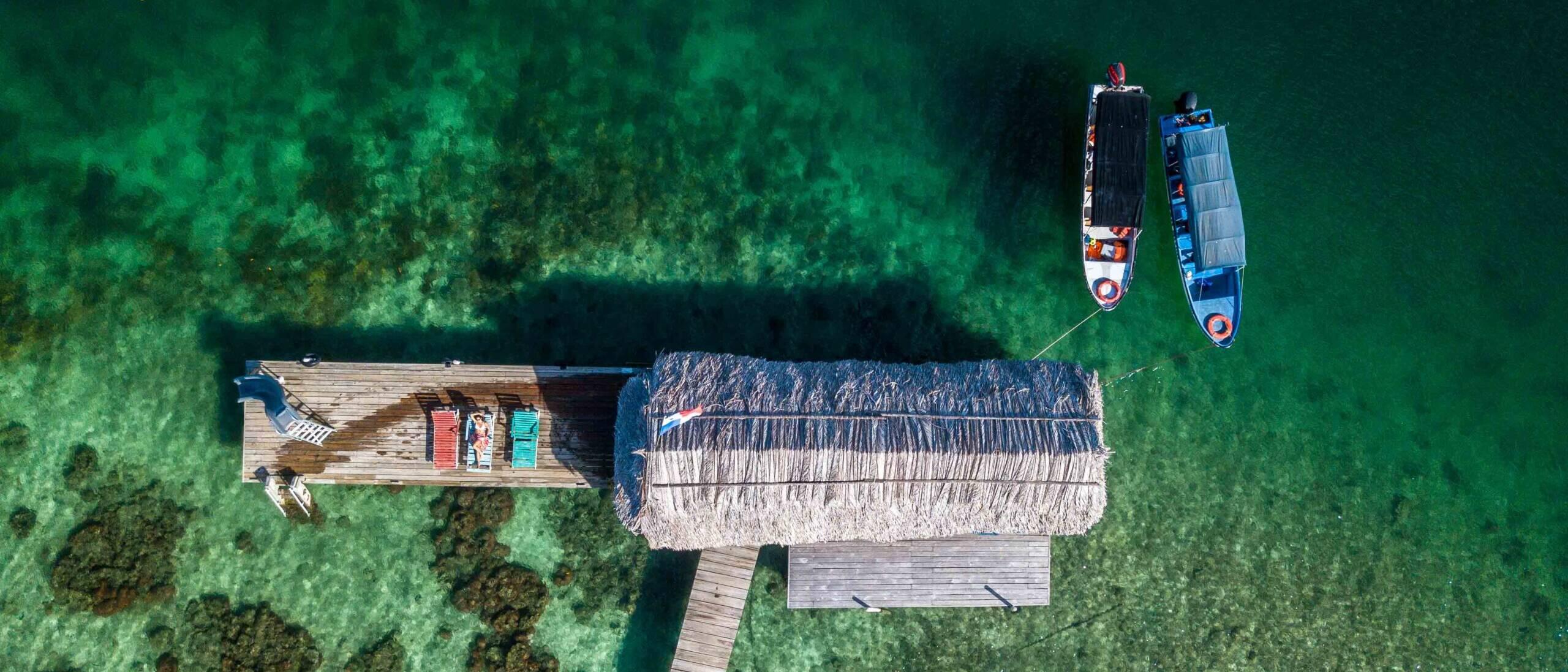 drone shot bocas del toro panama