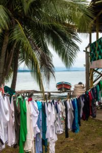 Laundry day at Isla Bastimentos Bocas del Toro