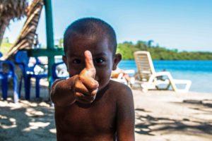 Local boy at Playa Estrella Panama