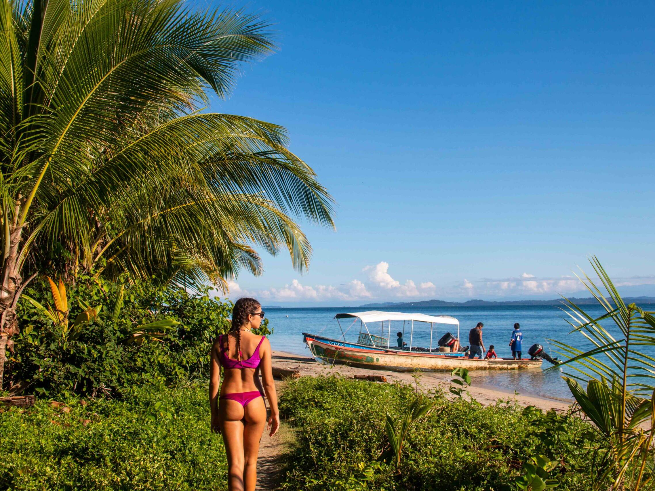 Beach in Bocas del Toro Panama