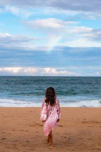Rainbows over Bluff beach Bocas del Toro